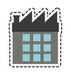 Isolated factory building design vector