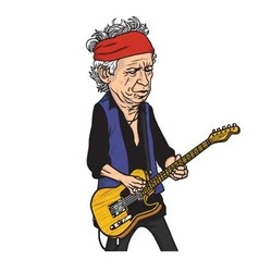 Keith Richards of The Rolling Stones Cartoon vector