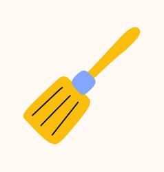 kitchen spatula cartoon doodle stock icon in flat vector image