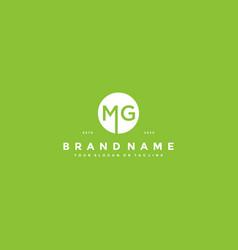 Letter mg logo design vector