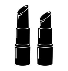 lipstick icon simple black style vector image