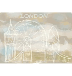 london abstract cityscape vector image
