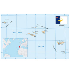 Map azores portugal vector