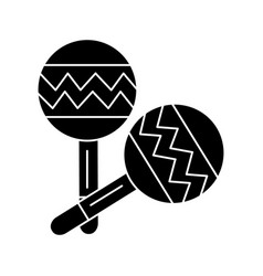 maracas icon black sign on vector image
