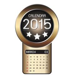 March calendar 2015 Fiber Background vector