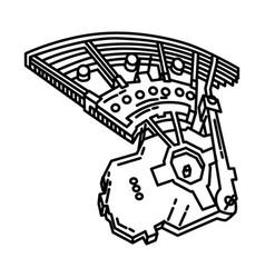 Masjidil al haram icon doodle hand drawn vector