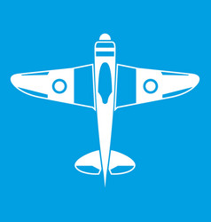 Military fighter plane icon white vector