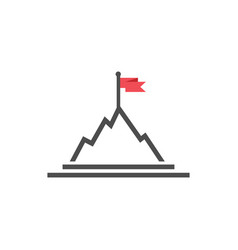 mountain flag graphic design template isolated vector image
