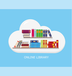 online reading learning or education concept vector image