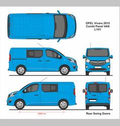 Opel vivaro combi panel van l1h1 2015 vector