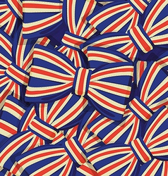 Pattern of Britain flag bow-tie vector image