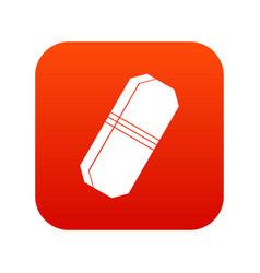 pencil eraser icon digital red vector image