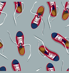pictures of colored sneakers vector image