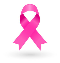 pink ribbon on white background 2 vector image