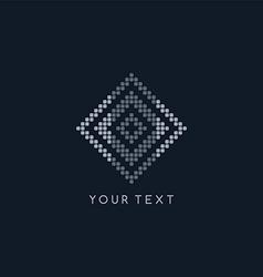 pixel logo template theme vector image