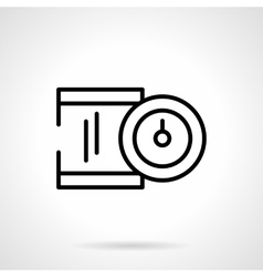 Precision device black line icon vector