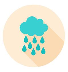 rain circle icon vector image