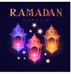ramadan kareem greeting islamic holiday design vector image