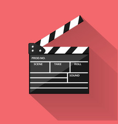 realistic cinema clapperboard icon vector image