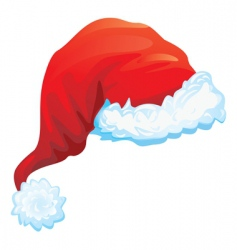 red hat of santa claus vector image