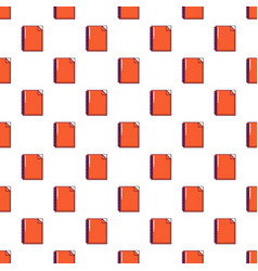 red notebook pattern seamless vector image