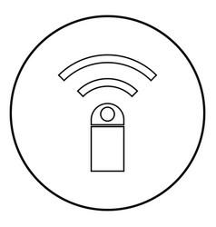 remote control device icon black color simple vector image