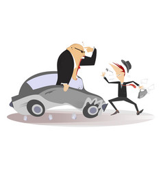 road accident vector image