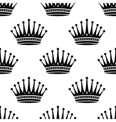 Royal crown seamless background pattern vector
