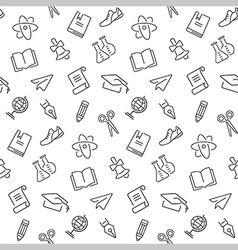 Seamless background with school object vector image