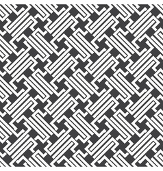 Seamless pattern of intersecting complex shapes vector image