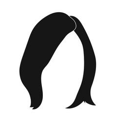 Shortwhite back hairstyle single icon in black vector