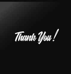 silver thank you text design vector image