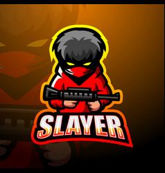 Slayer mascot esport logo design vector
