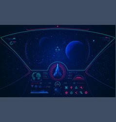 spaceship mode vector image