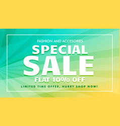 Special sale offer template for marketing vector
