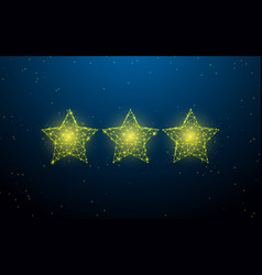 stars form lines triangles and particle style vector image