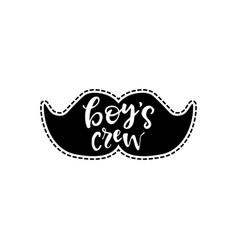 Sticker with mustache vector
