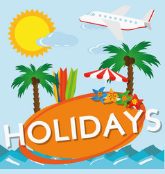 summer holiday travel vector image