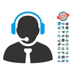 Support Manager Icon With Free Bonus vector