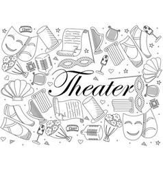 theater line art design vector image