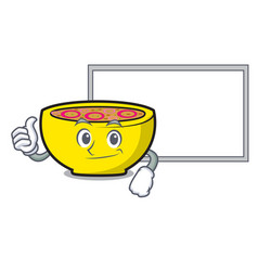 thumbs up with board soup union character cartoon vector image