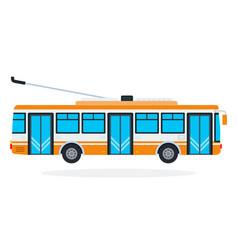 trolleybus flat isolated vector image