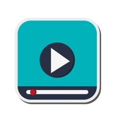 video player icon vector image