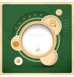 Vitage web design vector