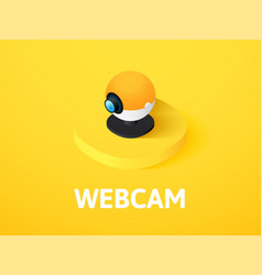 Webcam isometric icon isolated on color vector