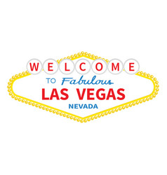 Welcome to las vegas sign icon classic retro vector