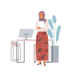 Young modern muslim woman wearing casual clothes vector