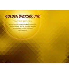 Abstract golden geometric business card background vector image vector image
