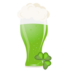 alcohol green beer transparent glass vector image