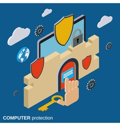 Computer security data protection concept vector image